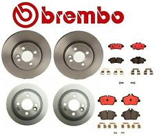 For Mini R55 R56 Cooper Front and Rear Disc Brake Rotors Ceramic Pads Brembo Kit