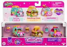 SHOPKINS Cutie Cars S3 TASTY TAKEOUT COLLECTION (3 Pack) Toy Vehicles Playset
