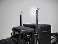 Pair Custom Aluminum Angle Exhaust Tip Pipe for Tamiya 1/14 RC Semi King Hauler
