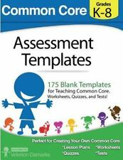 Common Core Assessment Templates : Black and White Print Version by Velerion...