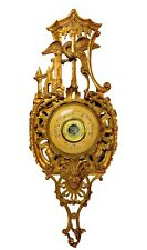 A Large 19th Century Antique Italian Rococo Carved Barometer