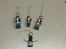 Weihnachtsbaumschmuck, Christbaumschmuck aus Holz, Weihnachtsmann VIER FIGUREN