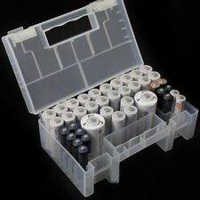 Aufbewahrungsbox Akku Batteriebox Hart Kunststoff Case Box Für AA AAA C Batterie