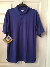 "KAYNEE Adult Large "" Blue Short Sleeve Polyester Polo Shirt New/ Tags ❤"