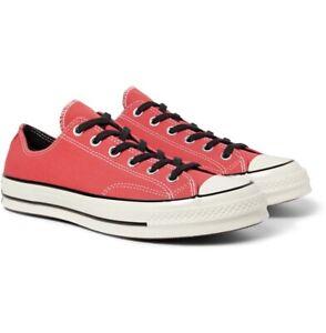 Converse Sedona Red Canvas Chuck 70 Ox Low Top Sneakers 10/44 £65 Mr Porter BNIB