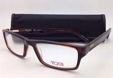 New TUMI Eyeglasses T 305 53-17 140 Brown Rectangular Frame w/ Clear Demo Lenses