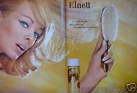 PUBLICITÉ 1965 L'ORÉAL LAQUE ELNETT S'ÉLIMINE AU BROSSAGE - ADVERTISING