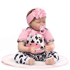 Bambole neonato in silicone da 55 cm reborn da 22 pollici che dormono Bebe con A