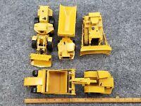 VINTAGE  ERTL CONST. TOYS 1/50 SCALE SET OF 4 1 LOADER 1 DUMP 1 SCRAPER 1 DOZER