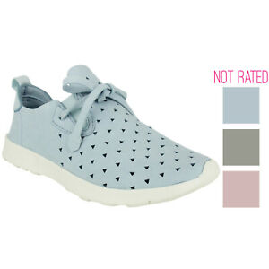 Not Rated Womens Marlum Laser Cut Fashion Sneaker