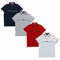 Tommy Hilfiger Mens Slim Fit Polo Shirt Silkscreen Short Sleeve Collared Casual