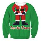 Couples Men Womens Christmas Santa Sweatshirts Jumper Pullover Xmas Sweater Tops