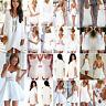 Femmes Sexy Party soiree en mousseline Mini Robe de plage été Tops Shirt Dress
