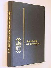 Massachusetts 1800 Census Index MA history genealogy