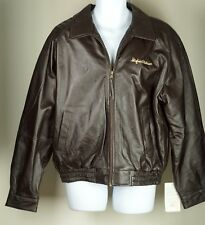 Men's Hughes and Kettner Amplifiers Embroidered Jacket Rare NEW Full Leather L