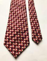 Vintage Red Fashion Design Fancy Classy 100% Silk Mens NeckTie Ties