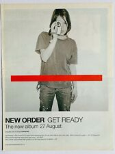 NEW ORDER 2001 POSTER ADVERT GET READY Crystal