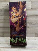 "1962 AURORA ""WOLF MAN"" Universal Monster MODEL KIT Complete In Original Box!"
