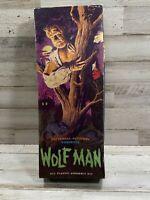 "1962 AURORA ""WOLF MAN"" Universal Monster MODEL KIT Complete In Original Box!"