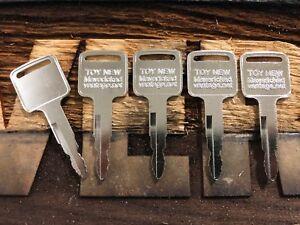 5 FORKLIFT IGNITION KEYS Toyota New 57591-2330-71 A62597 162597 GP33