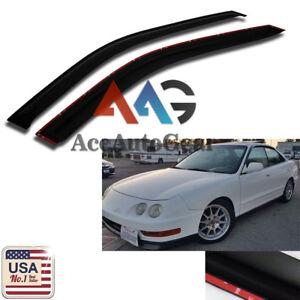 AAG Smoke 1994-2001 Acura Integra 2pc Window Deflector Visor Shade Rain Guard