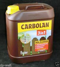 3,98€/L CARBOLAN 3in1 Holzlasur 5 L Holzschutz Naturbraun 5000ml Algenfrei Lasur