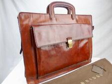 THE BRIDGE Classic Chestnut Leather Briefcase 42cm 06123901
