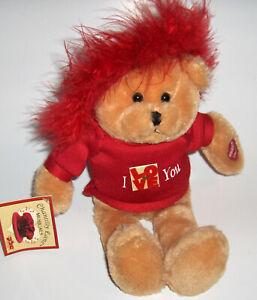 "Chantilly Lane Plush Bear- pbc--mini pearl sings ""LOVE""  flashes the love red"