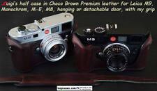 *LUIGI PREMIUM CASE+GRIP+STRAP+FDX for LEICA MONOCHROM,M9,ME,M8,DARK CHOCO BROWN