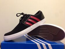 Adidas Seeley Boat   (  Black / Red ) Shoes Men size  11  NIB