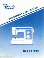 WHITE 1599 Blue Jeans Machine INSTRUCTION Book / OPERATING MANUAL PDF file on CD