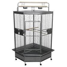 A&e 32 Large Corner Cage Cc3232 Black by a & E Cage Cc3232Black Bird Cage