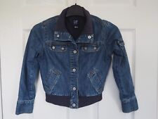 Fantastic GAP Kids Unisex Denim Bomber Style Jacket size Small / Age approx. 6