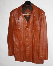 Grais SAFARI Fight Club Leather Coat/Jacket Men 46 Blazer Angel Cabretta VINTAGE