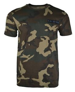 ALPHA INDUSTRIES CAMO T-SHIRT CAMOUFLAGE ARMY MILITARY KNOXVILLE TENNESSEE USA
