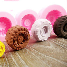 Tires Wheel Cartoon Fondant Mold Silicone Sugarcraft Cake Decorating DIY Mould