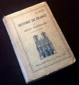 Ancien manuel scolaire  Histoire de France (1937)