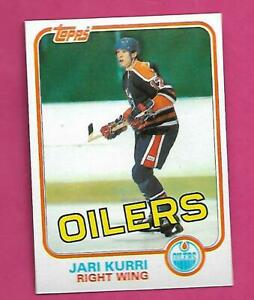 1981-82 TOPPS # 18 OILERS JARI KURRI ROOKIE  NRMT-MT CARD (INV# D5020)