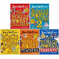 David Walliams Worlds Worst Children 5 Books Collection Set Worlds Worst Child