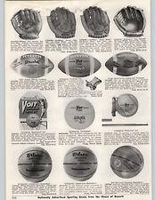 1962 PAPER AD Wilson A2131 Luis Aparicio Roger Maris Baseball Glove 6 Finger