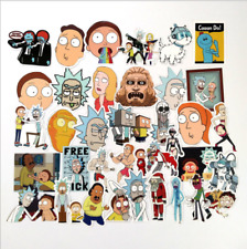 35pcs DIY Rick And Morty Car Auto Skateboard Laptop Luggage Suitcase Sticker UK