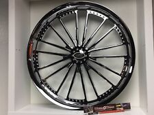"09 up Harley Davidson 21"" front Wheel Custom Chrome Wheel Style 114c"