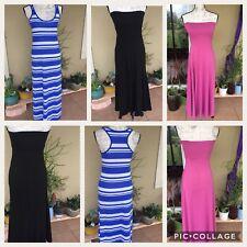 Ladies 3 Piece Summer Beachwear Dress Lot Small Long maxi style blue/pink/black