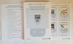 BundErsttagsblätter  ETB Jahrgang 2008 komplett sehr gut erhalten
