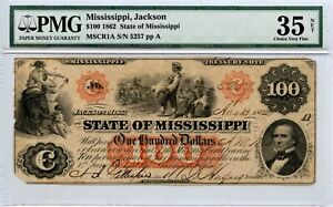 1862. $100    State of Mississippi at Jackson.
