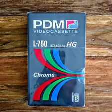 PDM Video Cassette L-750 Standard HG Chrome Beta - NEW Factory Sealed - 3 hours