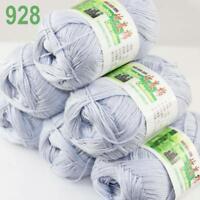 6Skeins X 50g Baby Natural Smooth Soft Bamboo Cotton Knitting Yarn Knitwear 28