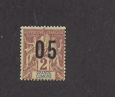 """GRAND COMORO 20a-MH- WIDE SPACING- 1912  -  O/P  ON """"NAVIGATION AND COMMERCE"""" -"""