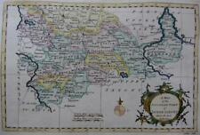GERMANY SAXONY HANOVER GENUINE ENGRAVED ANTIQUE MAP BY GEORGE ROLLOS  c1760