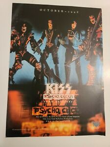 KISS Psycho Circus Tour Edition Band Picture Promo Ad 1998